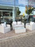 GREY RATTAN DELUXE GARDEN FURNITURE SET